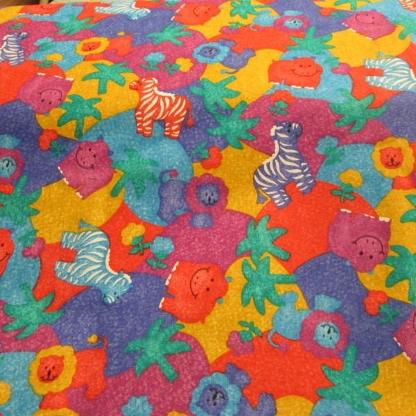 Bargin quilting fabric children colorful for Animal print fabric for kids