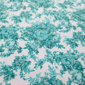 silver teal cotton