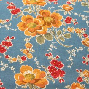 blue gold floral