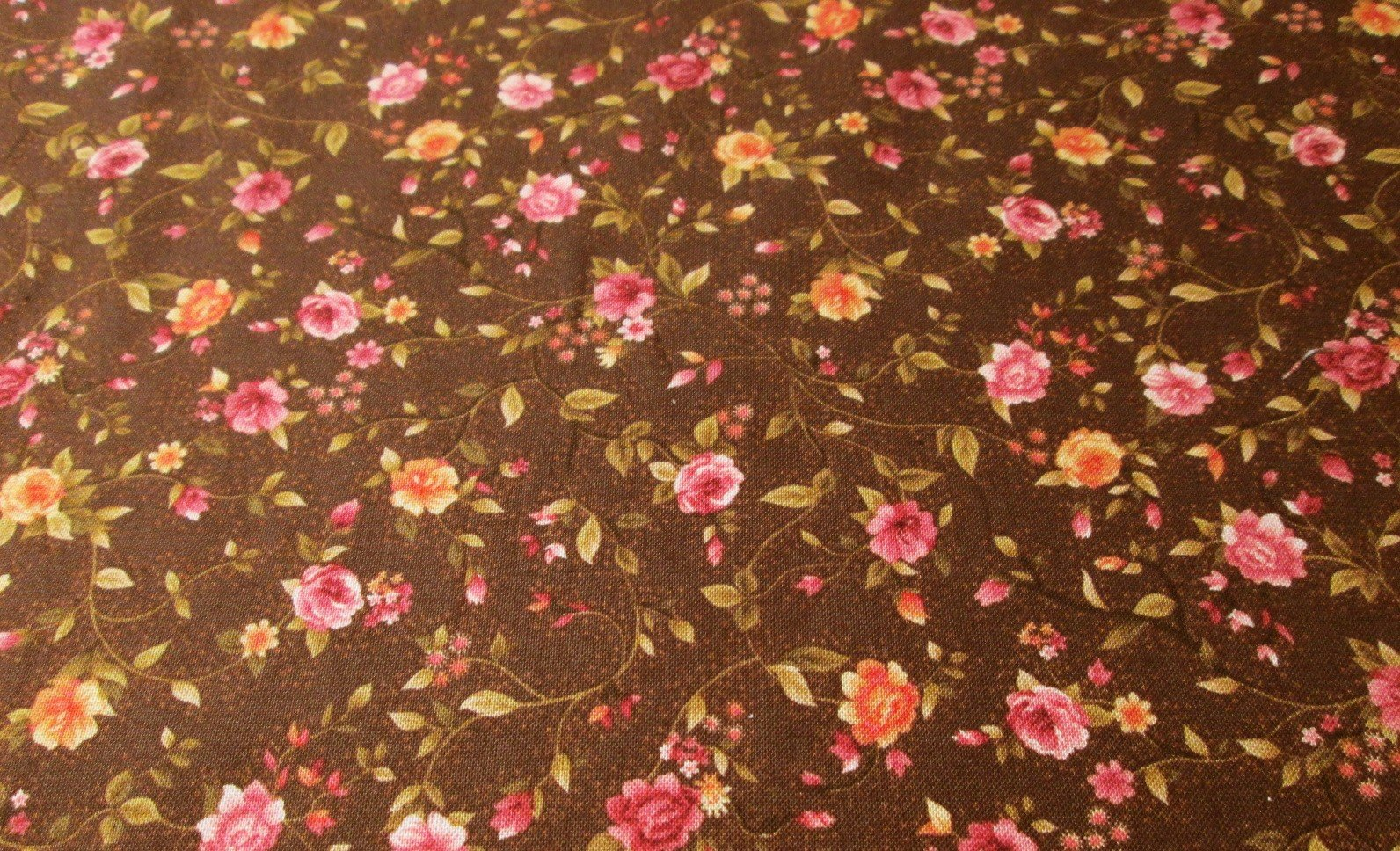 brown with pink flowers
