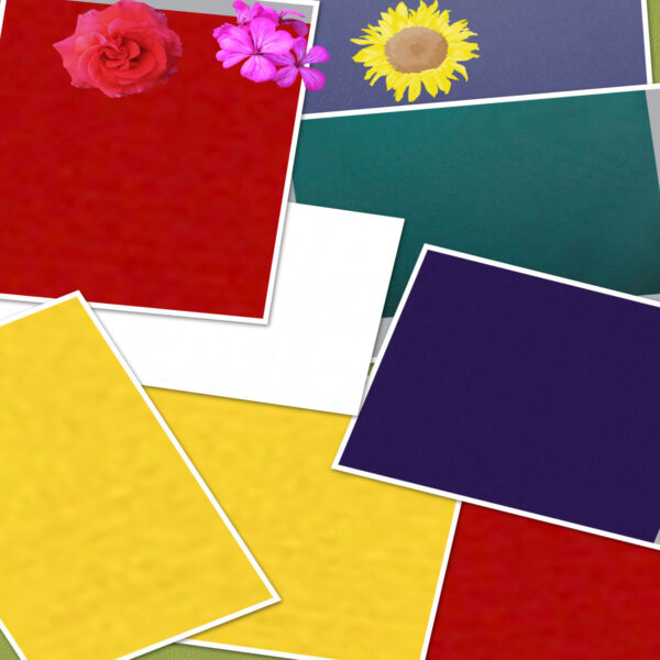 Red, Blue, Green, Purple, Yellow, White Nylon Packcloth