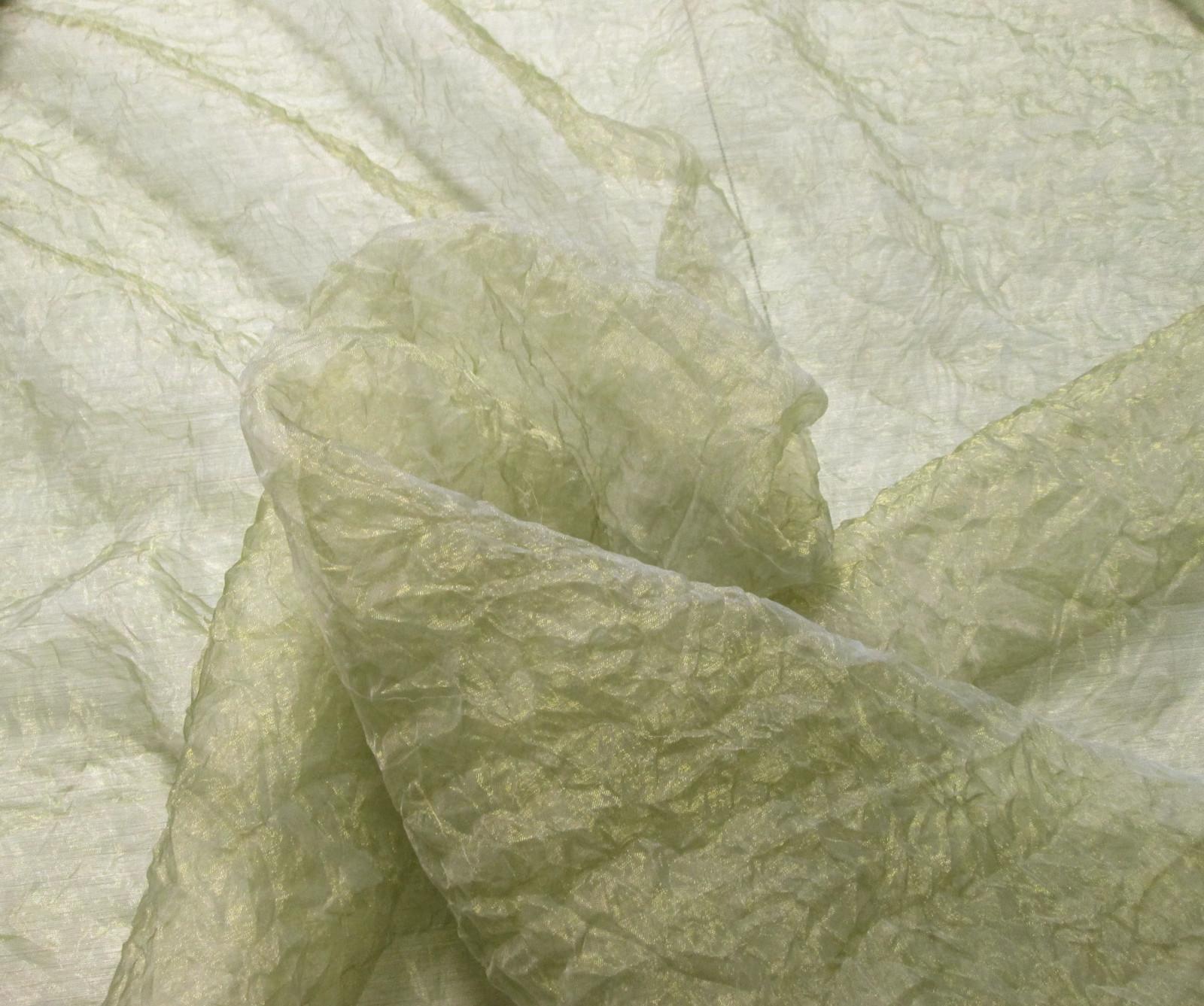Sage Green Crinkle Organza
