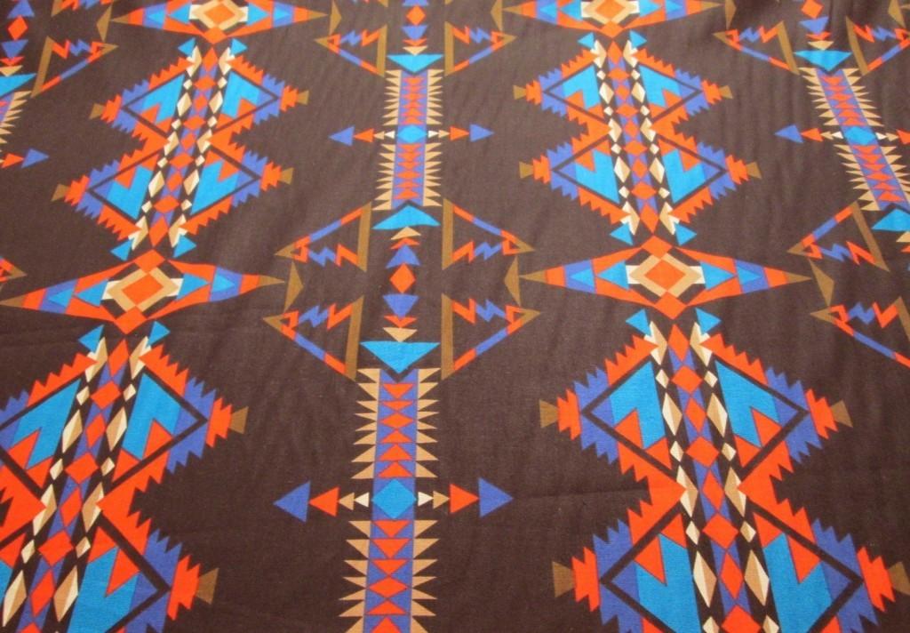 Black Southwest Indian Print