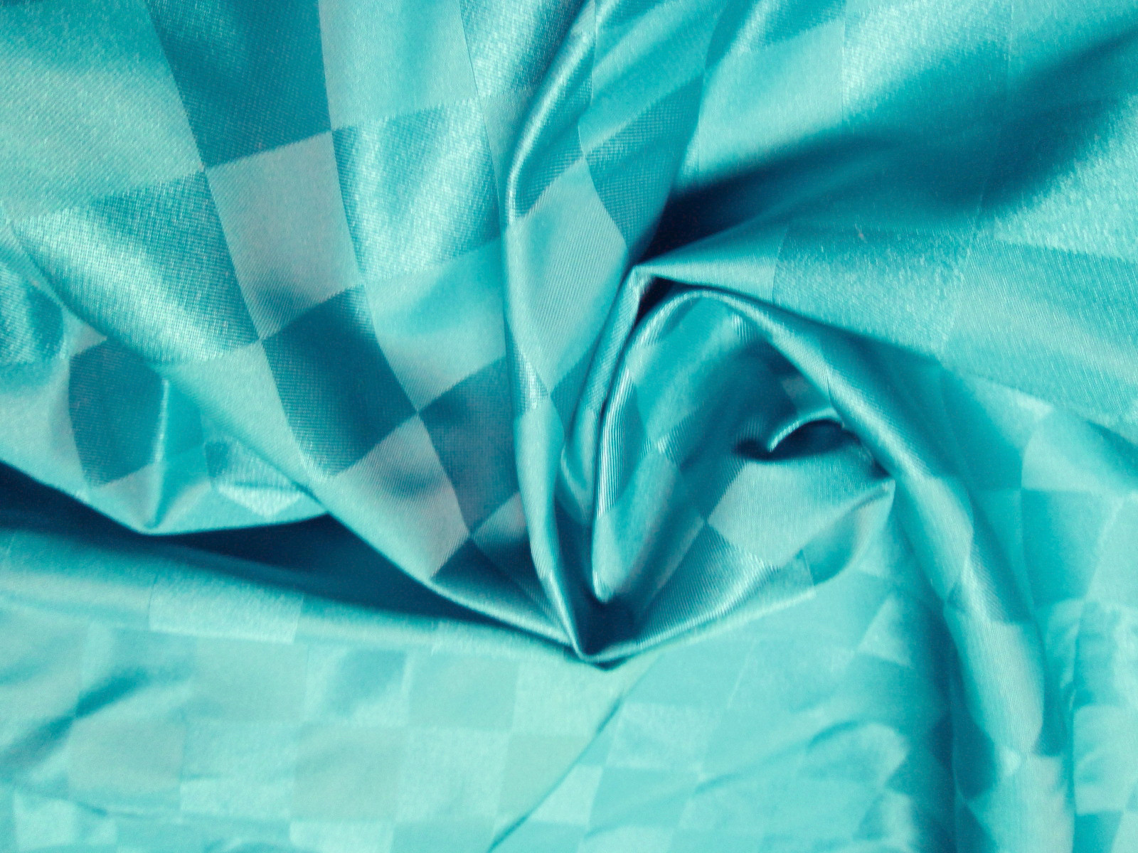 turquoise checks satin