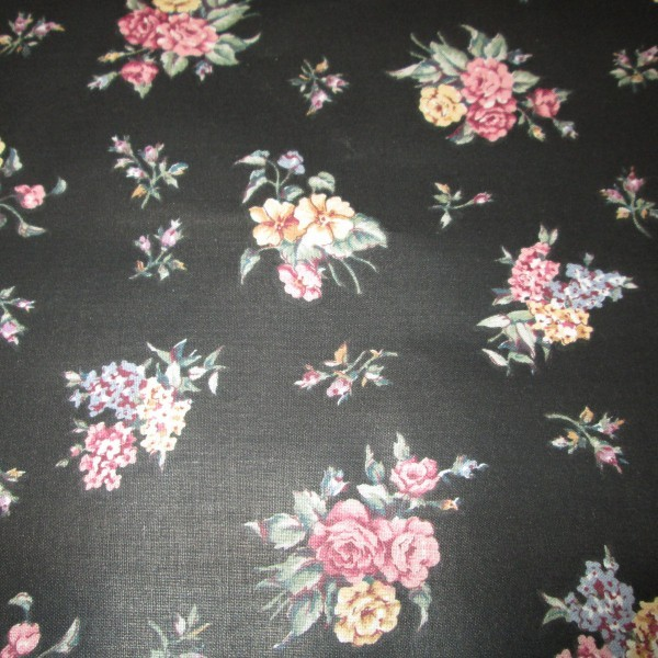 black chintz with flowers