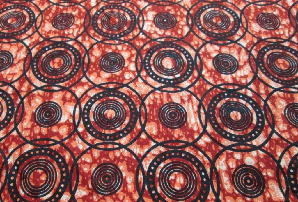 Orange and Black Tribal Circles