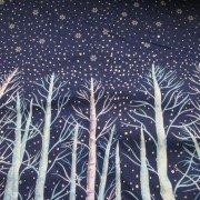 Winter Scene Trees and Snow