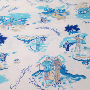 golf theme cotton fabric