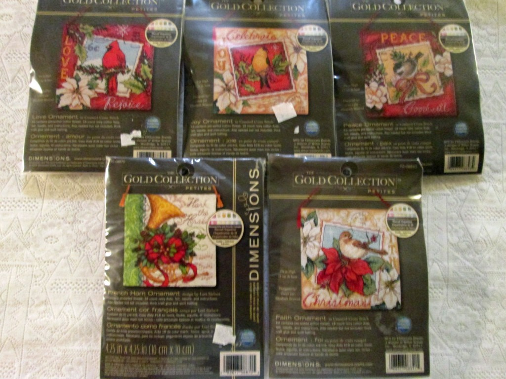 Christmas Ornament Cross Stitch Kits