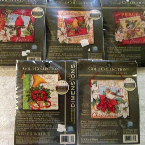 Christmas Ornament Cross Stitch Kits