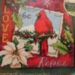 Cardinal Christmas Ornaments Cross Stitch Kit