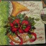 French Horn Christmas Ornaments Cross Stitch Kit