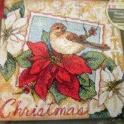 Nuthatch Christmas Ornaments Cross Stitch Kit