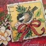 Sparrow Christmas Ornaments Cross Stitch Kit