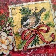 Sparrow Christmas Ornaments Cross Stitch Kit