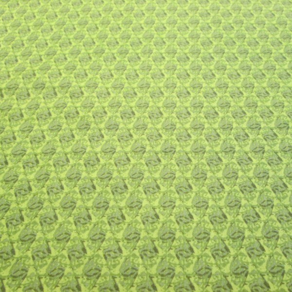 Kaleidoscope Green Cotton Quilting Fabric