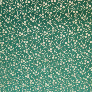 Green Floral Cotton Fabric