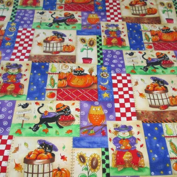Treasures Halloween Harvest Fabric