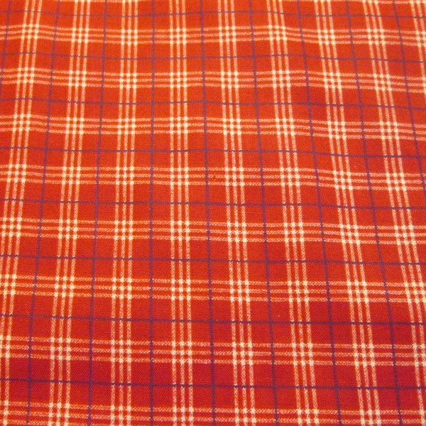 Concord Red Plaid Cotton Quilting Fabric