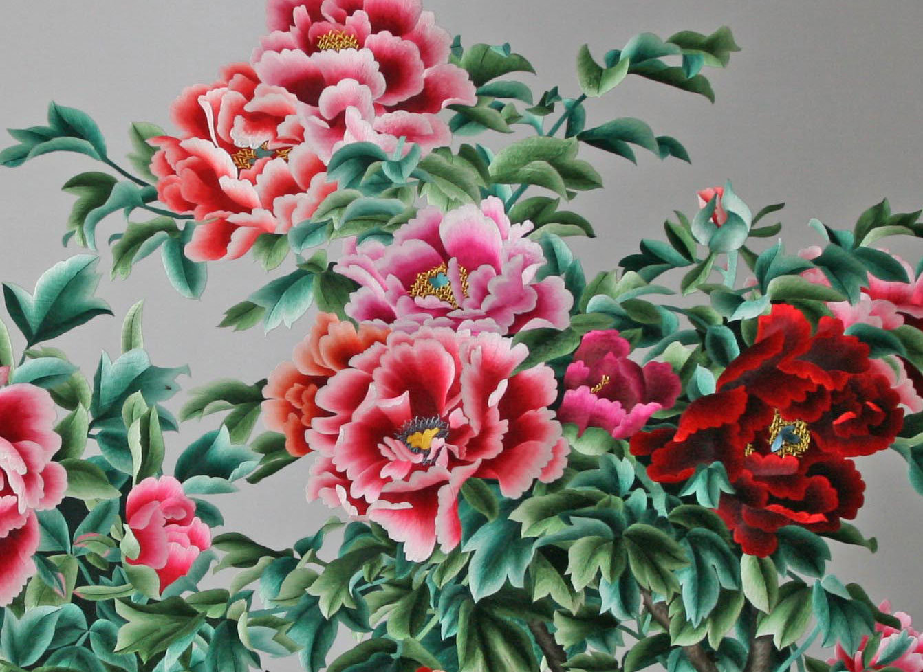 Chinese Embroidered Flowers