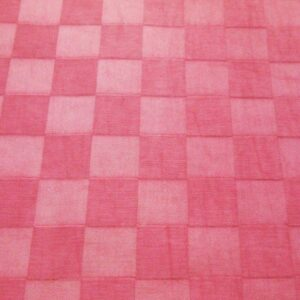 Pink on pink checks decorator Fabric