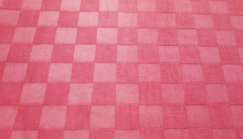 Pink on pink checks decorator Fabric